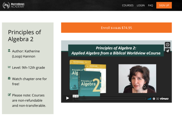 Algebra 2 Video