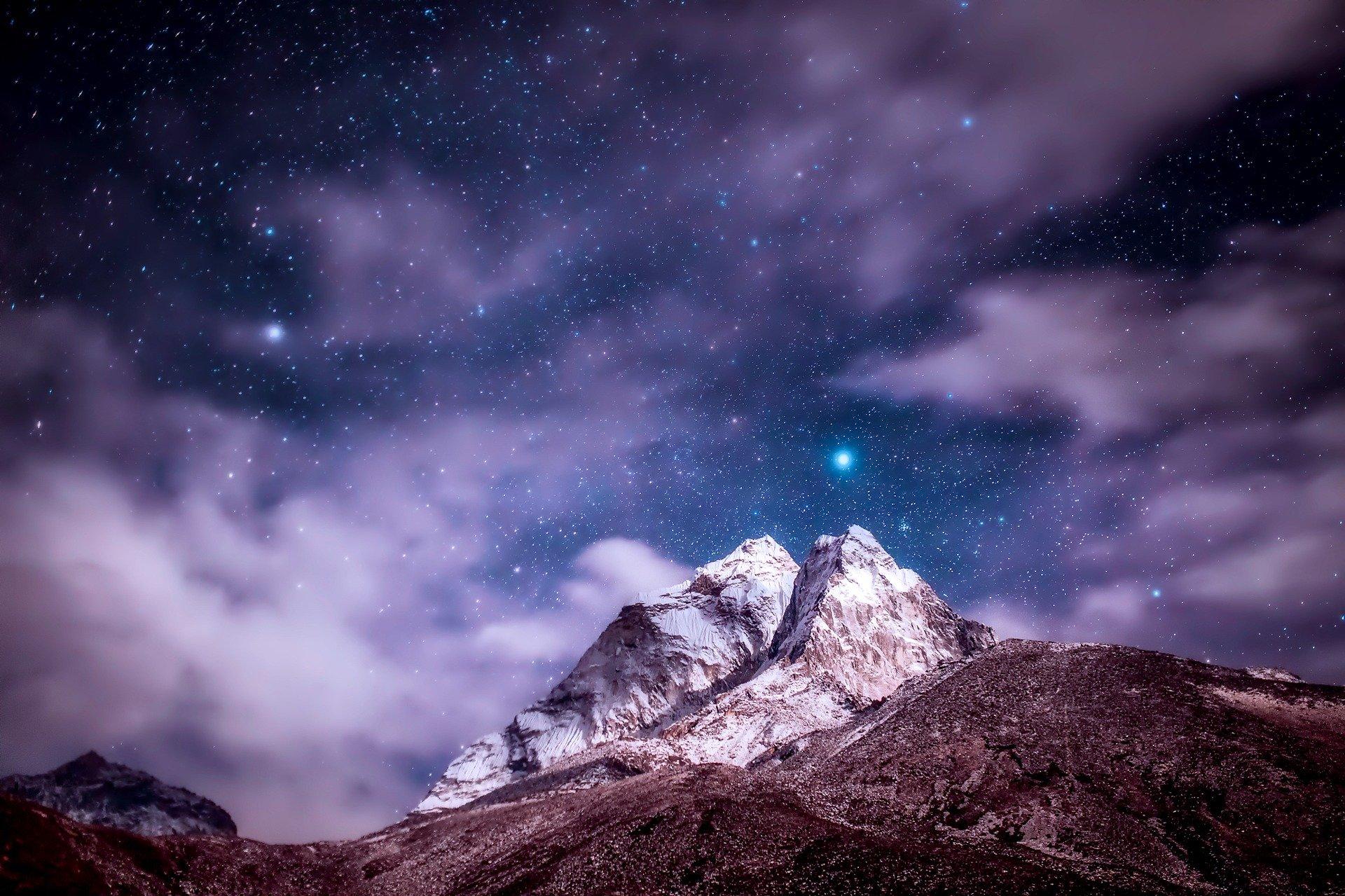 mountain/stars