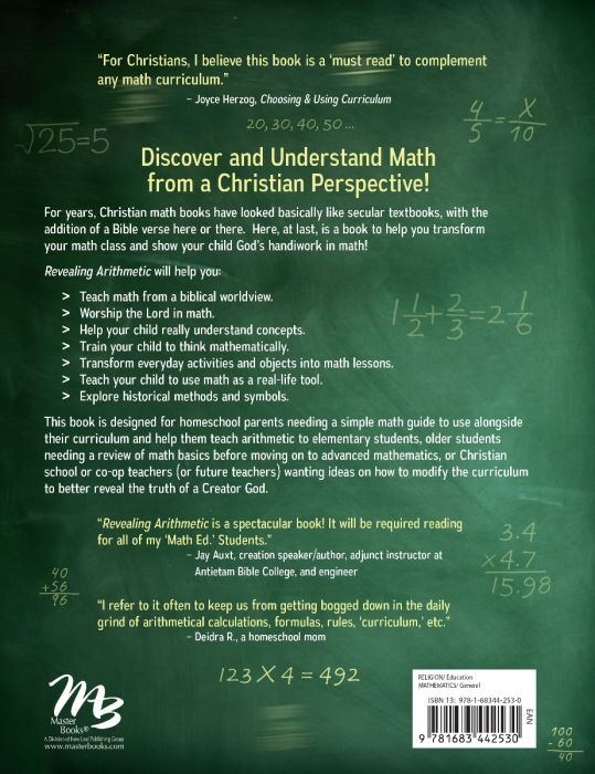 Revealing Arithmetic Back Cover