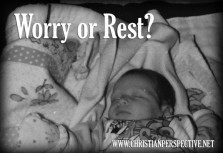 Story: Worry or Rest?